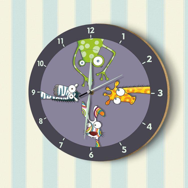 DekorLoft - DekorLoft Fosforlu Çocuk Odası Duvar Saati YFS-1420