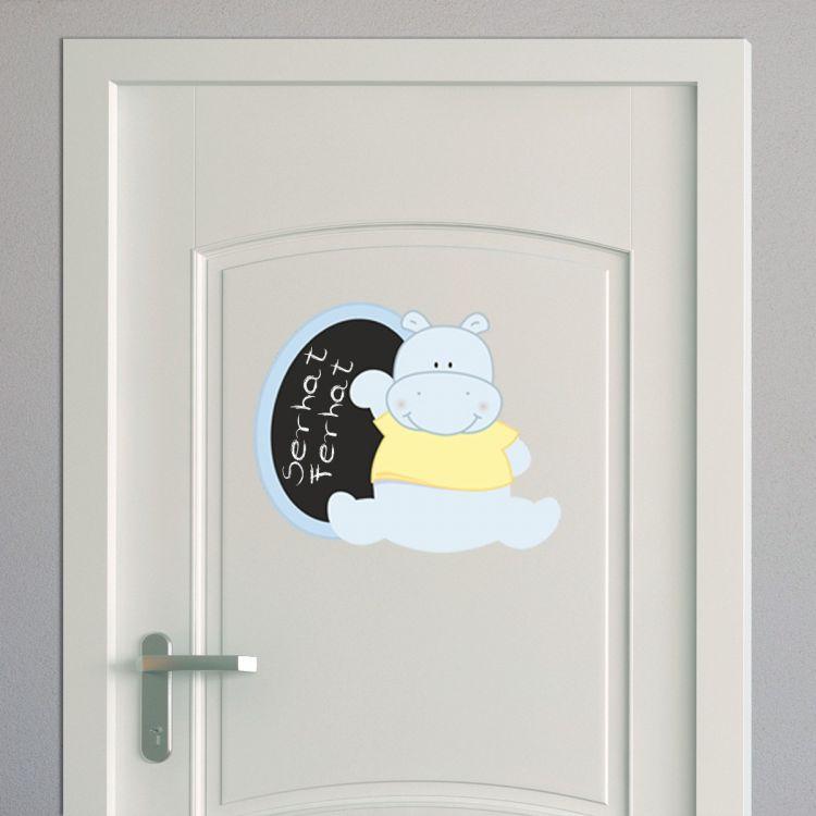 DekorLoft - DekorLoft Hippo Yazılabilir Kapı ve Dolap Sticker KST-108