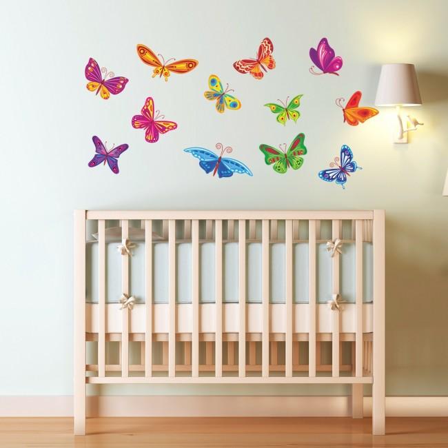 DekorLoft - DekorLoft Kelebekler Çocuk Odası Sticker CS-547