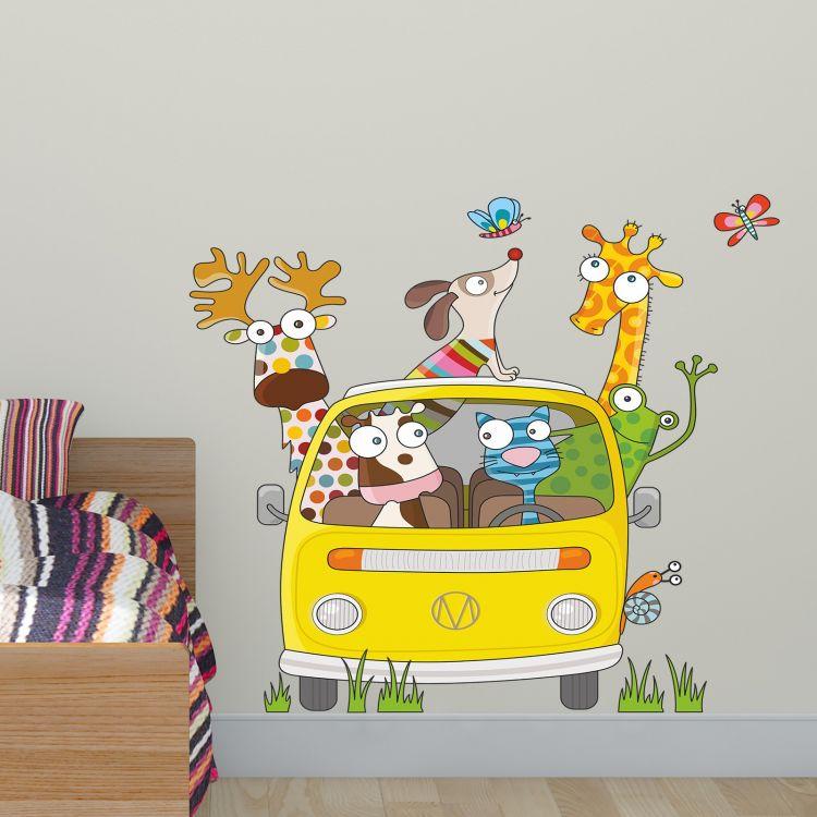 DekorLoft - DekorLoft Komik Yolculuk Çocuk Odası Duvar Sticker CS-283