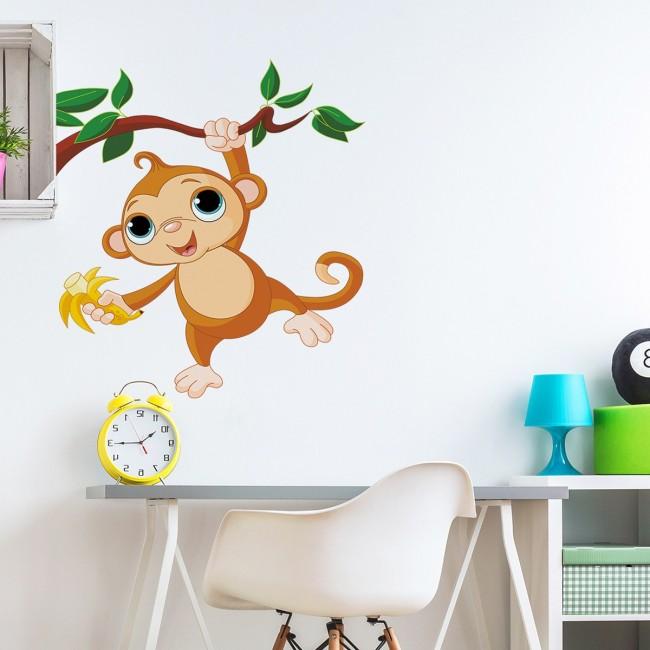 DekorLoft - DekorLoft Minik Maymun Çocuk Odası Sticker CS-243