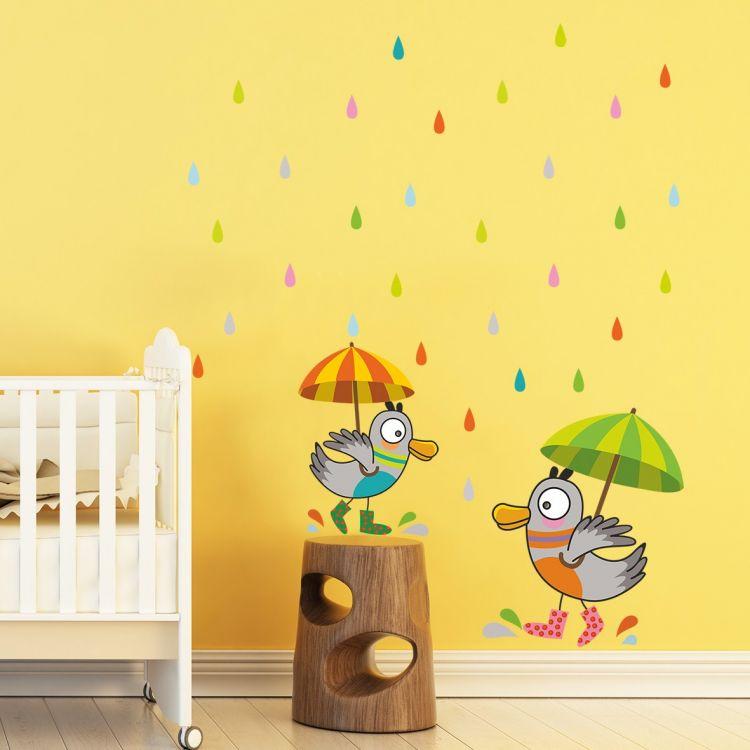 DekorLoft - DekorLoft Neşeli Kuşlar Çocuk Odası Duvar Sticker CS-316