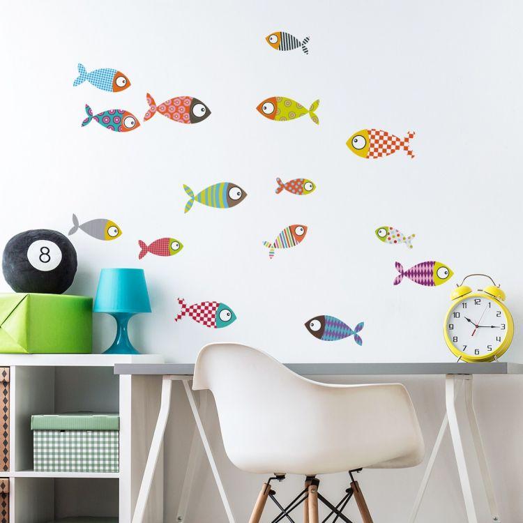 DekorLoft - DekorLoft Şirin Balıklar Çocuk Odası Duvar Sticker CS-310