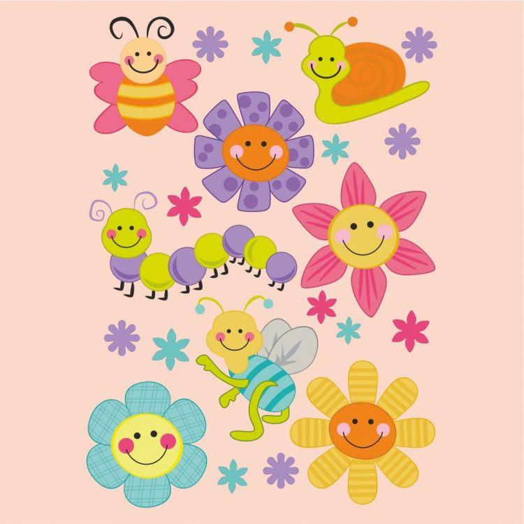 DekorLoft - DekorLoft Şirin Çiçekler Çocuk Odası Sticker CS-269