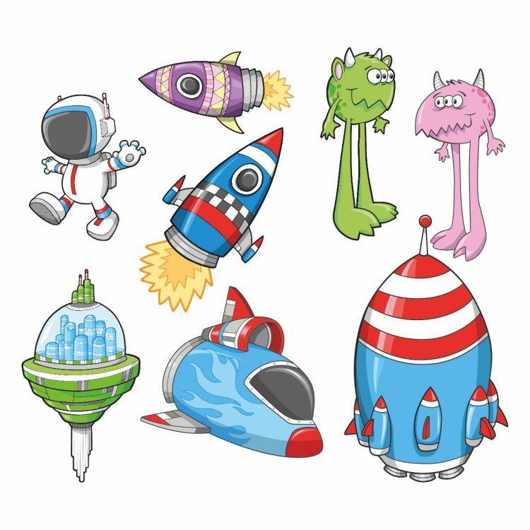 DekorLoft - DekorLoft Uzay Araçları Çocuk Odası Sticker CS-264