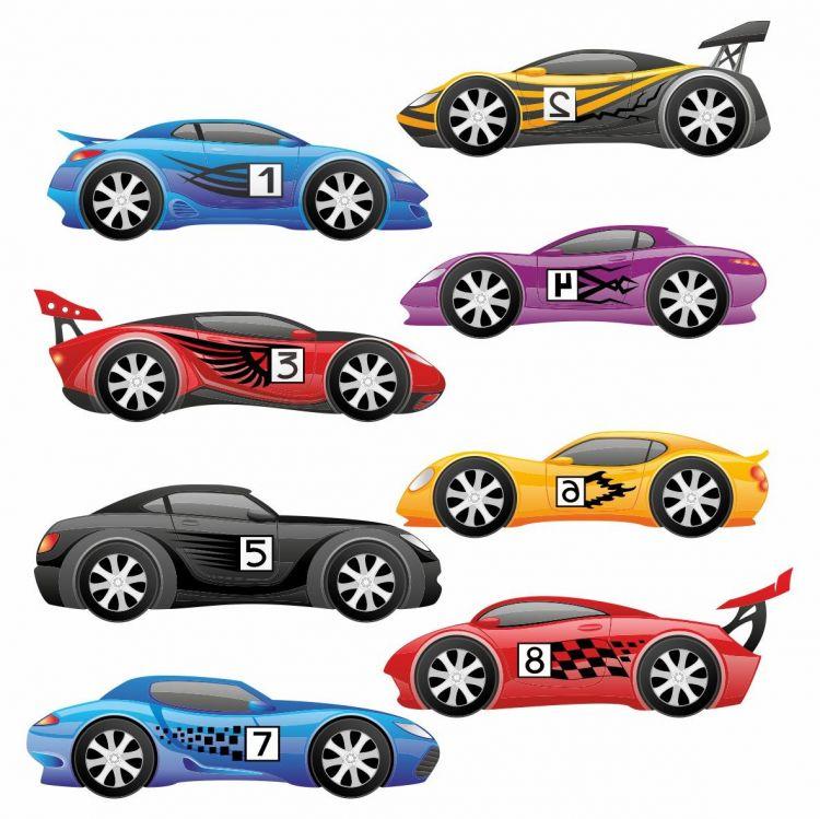 DekorLoft - DekorLoft Yarış Arabası Çocuk Odası Sticker CS-536