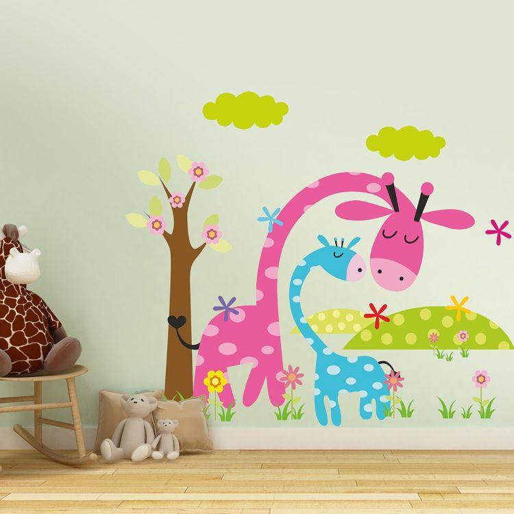 DekorLoft - DekorLoft Zürafa Ailesi Çocuk Odası Duvar Sticker CS-120