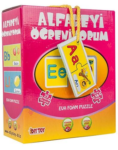 Dıytoy - Dıytoy Alfabeyi Öğreniyorum Çocuk Yapboz Puzzle