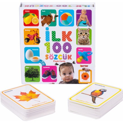 Dıytoy - Dıytoy Flash Cards ilk 100 Sözcük