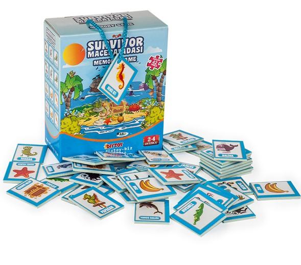 Dıytoy - Diytoy Macera Adası Hafıza Oyunu 42 Parça Kart 3 Yaş+