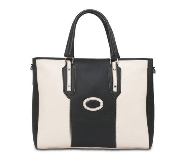 Eensy Weensy - Eensy Weensy Stylish Flexy Handbag - Black & White