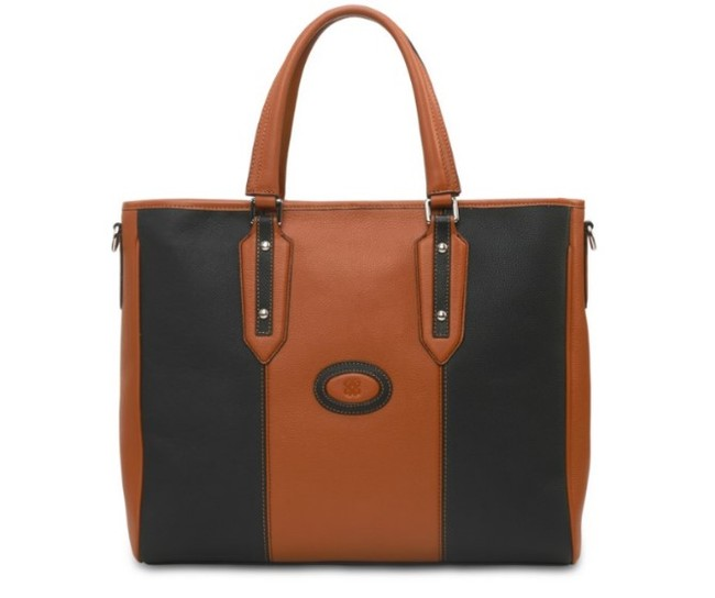 Eensy Weensy - Eensy Weensy Stylish Flexy Handbag - Camel & Black
