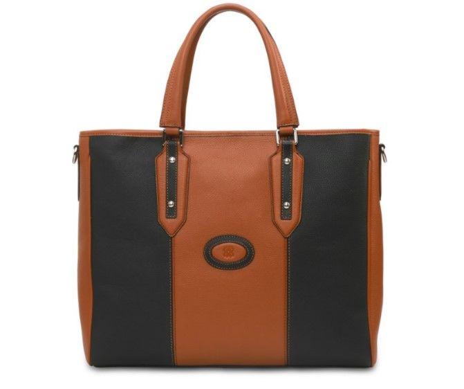 Eensy Weensy - Eensy Weensy Stylish Flexy Handbag - Camel & Black