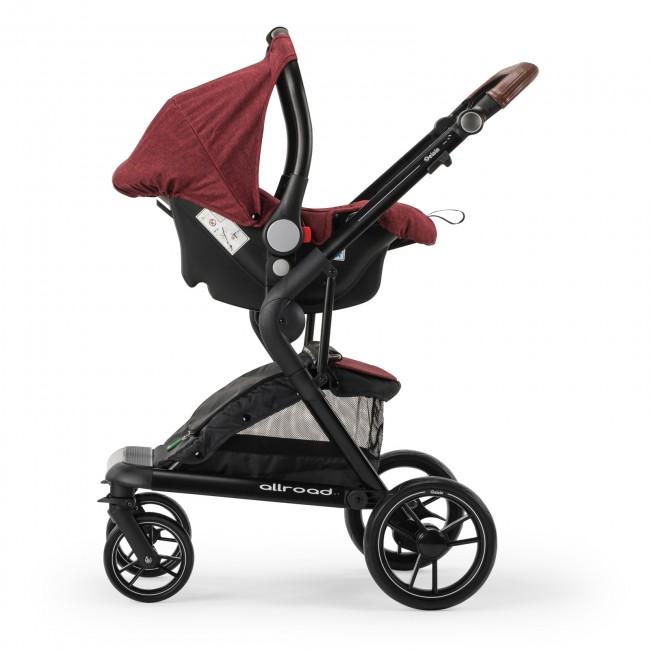 Elele Allroad Travel Sistem Bebek Arabası Kırmızı - Thumbnail