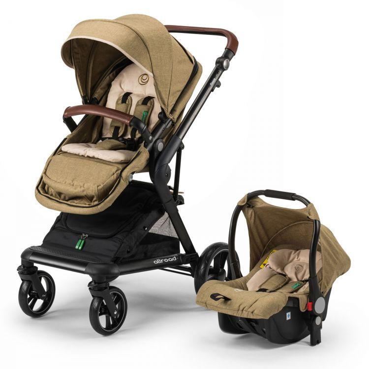Elele - Elele Allroad Travel Sistem Bebek Arabası Haki