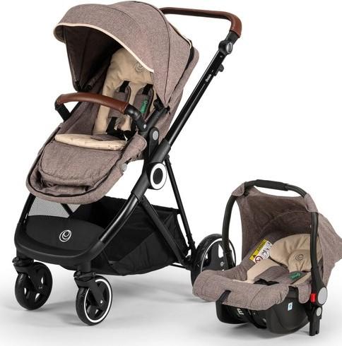Elele - Elele Ranger Travel Sistem Bebek Arabası Kahverengi