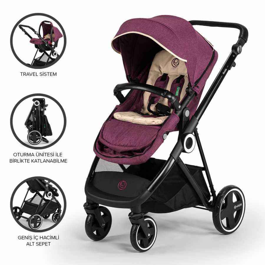Elele Ranger Travel Sistem Bebek Arabası Mor