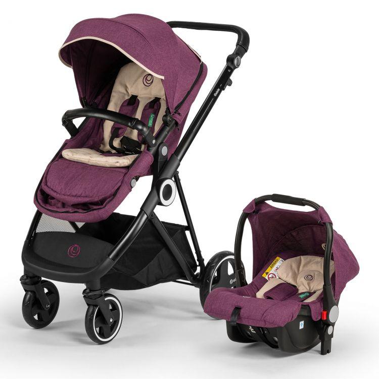 Elele - Elele Ranger Travel Sistem Bebek Arabası Mor