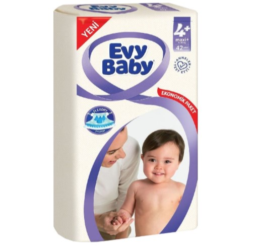 Evy Baby - Evy Baby Bebek Bezi 4 Numara 45 Adet Jumbo 7-18 Kg