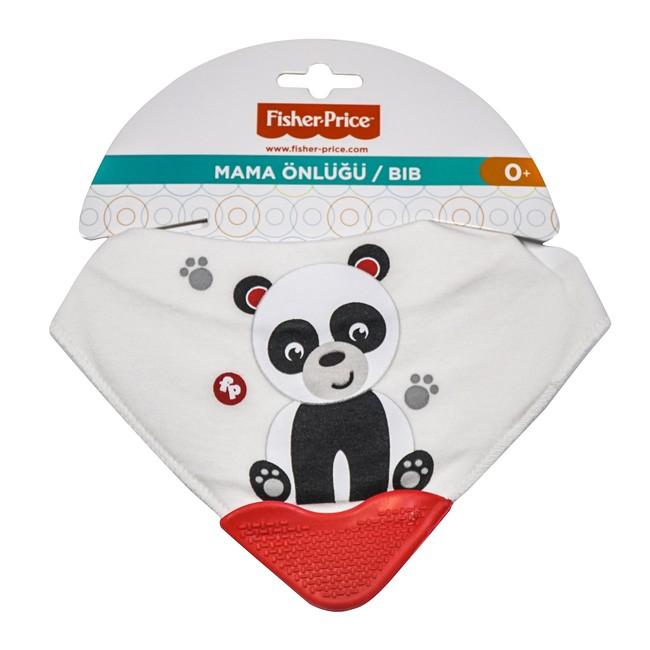 Fisher Price - Fisher Price Panda Fular Diş Kaşımalı Önlük Panda