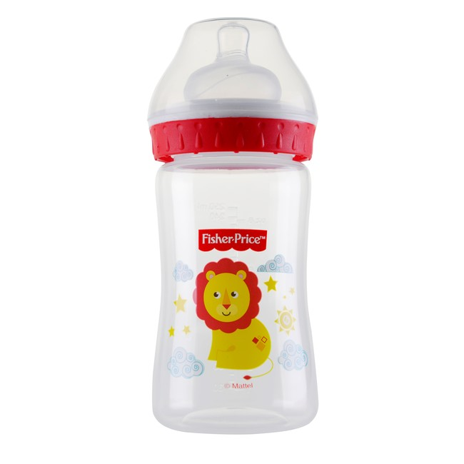 Fisher Price - Fisher Price Geniş Ağız 250 ml PP Biberon Aslan
