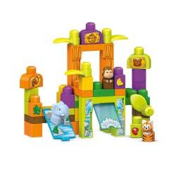 Fisher Price - Fisher Price Mega Bloks® Hikaye Temalı Bloklar - Safari Hayvanat Bahçesi Oyun Seti
