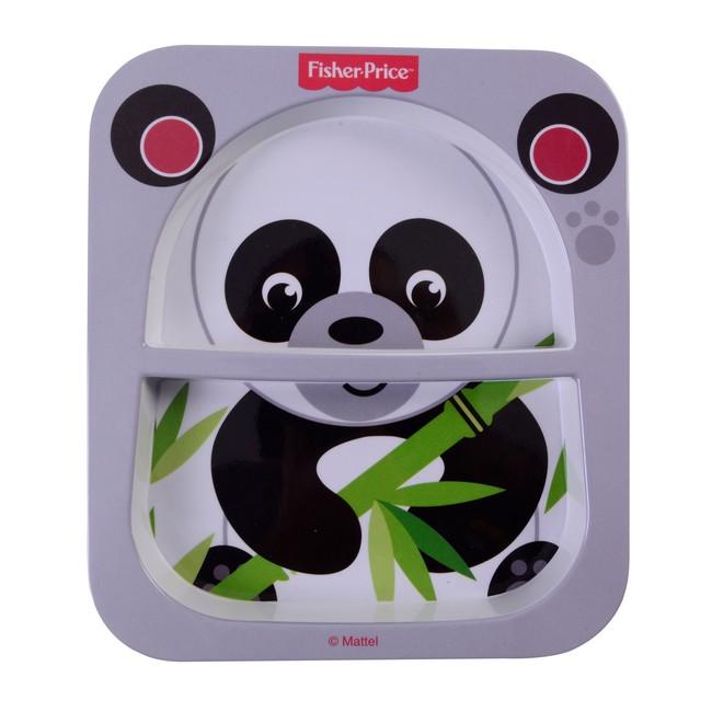 Fisher Price - Fisher Price Panda Bölmeli Mama Tabağı