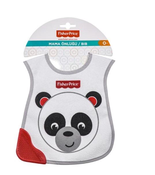 Fisher Price - Fisher Price Panda Diş Kaşımalı Önlük