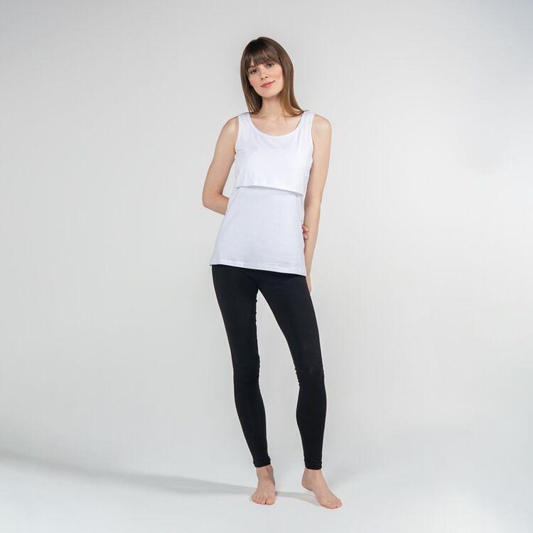 FUNNA MAMMA - Funna Mamma Atlet Yaka Emzirme T-Shirt Paola Beyaz XL