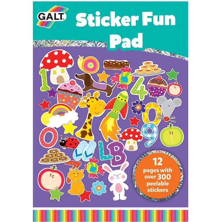 Galt - Galt Sticker Fun Pad 3 Yaş+ (Çıkartma Kitabı )