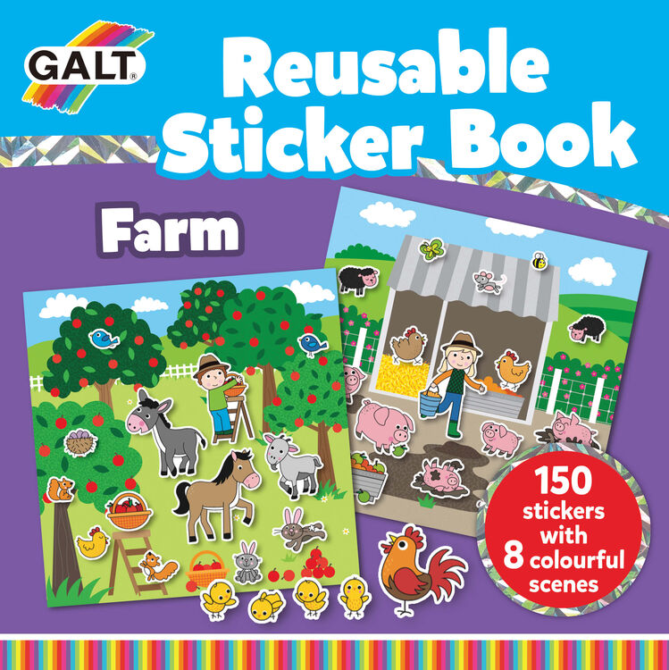 Galt - Galt Reusable Sticker Book - Farm 3 Yaş+