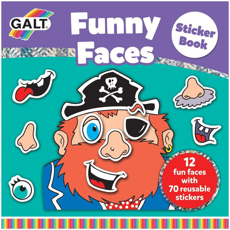 Galt - Galt Funny Faces Sticker Book 3 Yaş+