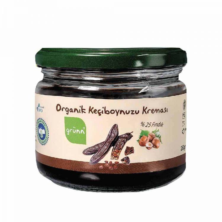 Grünn - Grünn Organik Keçiboynuzu Pekmezli Fındık Kreması 200 gr