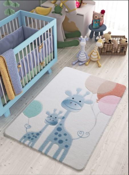Confetti - Confetti Happy Giraffe 100x150 A.Mavi Oymalı