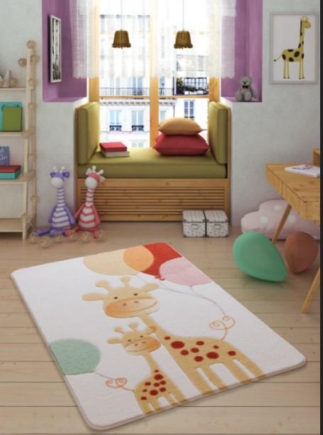 Confetti - Confetti Happy Giraffe 100x150 Sarı Oymalı