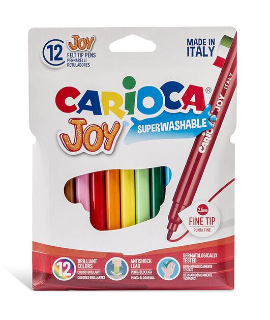 Carioca - Carioca Joy Süper Yıkanabilir Keçeli Boya Kalemi 12'li