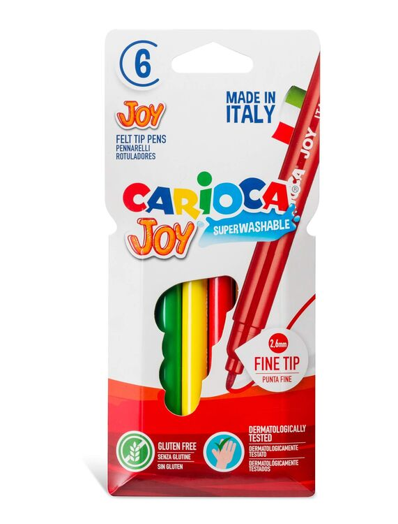 Carioca - Carioca Joy Süper Yıkanabilir Keçeli Boya Kalemi 6'lı