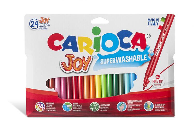 Carioca - Carioca Joy Süper Yıkanabilir Keçeli Boya Kalemi 24'lü