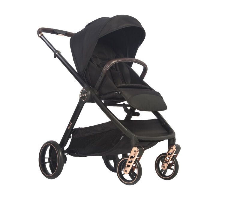 Kanz - Kanz x-Go Rose Gold Seyahat Sistem Bebek Arabası Siyah