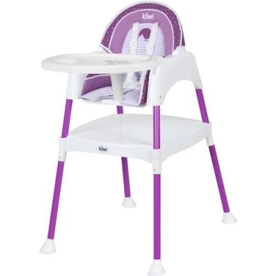 Kiwibaby - Kiwibaby Mama Sandalyesi Üçü Bir Arada Multi Mama Sandalyesi Mor Desenli