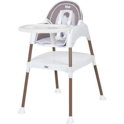 Kiwibaby - Kiwibaby Mama Sandalyesi Üçü Bir Arada Multi Mama Sandalyesi Kahve Desenli