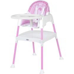 Kiwibaby - Kiwibaby Mama Sandalyesi Üçü Bir Arada Multi Mama Sandalyesi Pembe