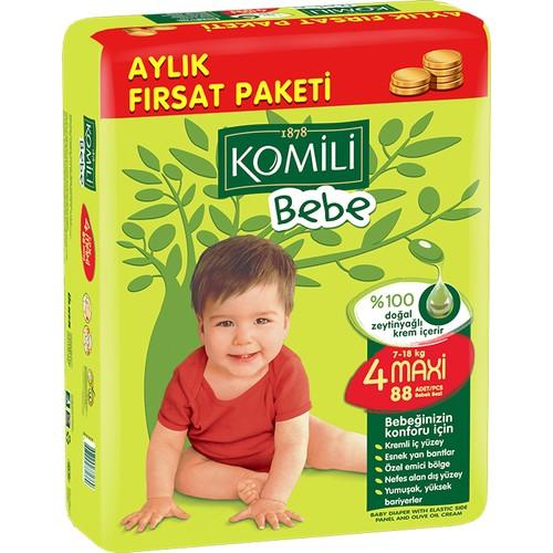 Komili - Komili Bebek Bezi Fırsat Paketi Maxi 4 Beden 88 Adet