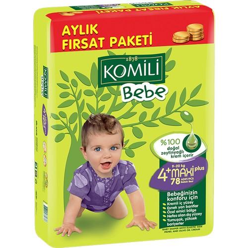 Komili - Komili Bebek Bezi Fırsat Paketi Maxi Plus 4+ Beden 78 Adet
