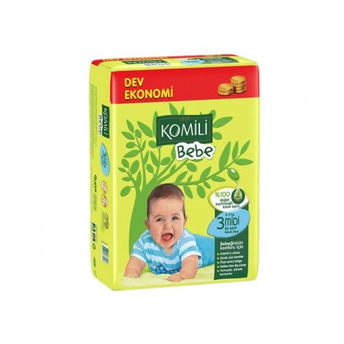 Komili - Komili Bebek Bezi Fırsat Paketi Midi 3 Beden 104 Adet