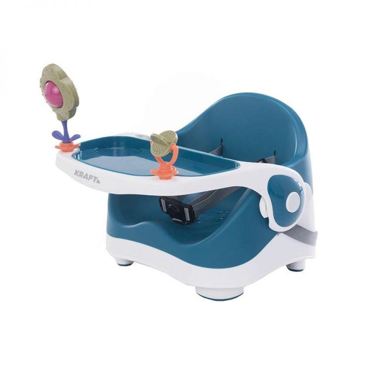 Kraft - Kraft Oyuncaklı Booster Portatif Mama Sandalyesi Mavi