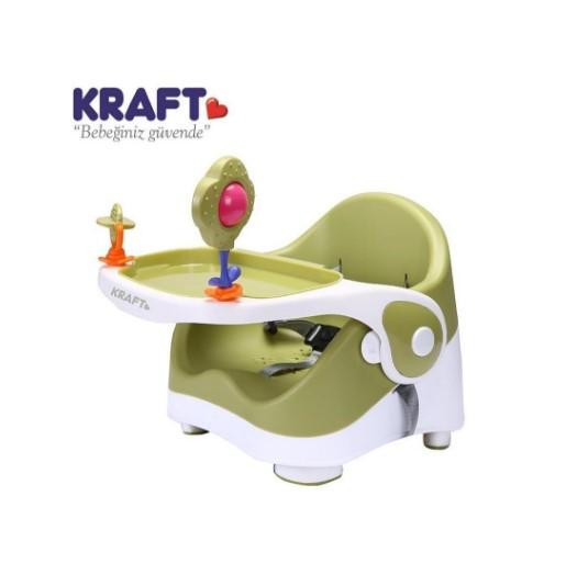 Kraft - Kraft Oyuncaklı Booster Portatif Mama Sandalyesi Yeşil