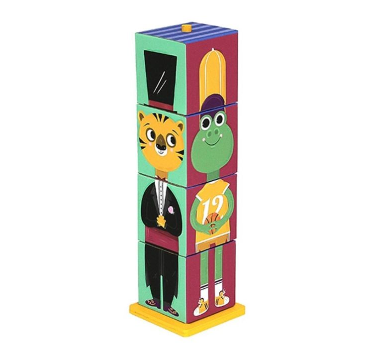 Krooom - Krooom Hayvancıklar - Stack & Match 3D Küpler