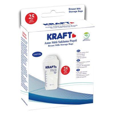Kraft - Kraft Saklama Poşeti - 25 Adet