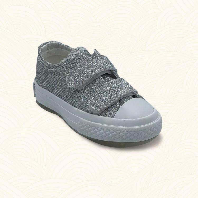 Lilbugga - Lilbugga SPİKY Çocuk Ayakkabısı Gümüş